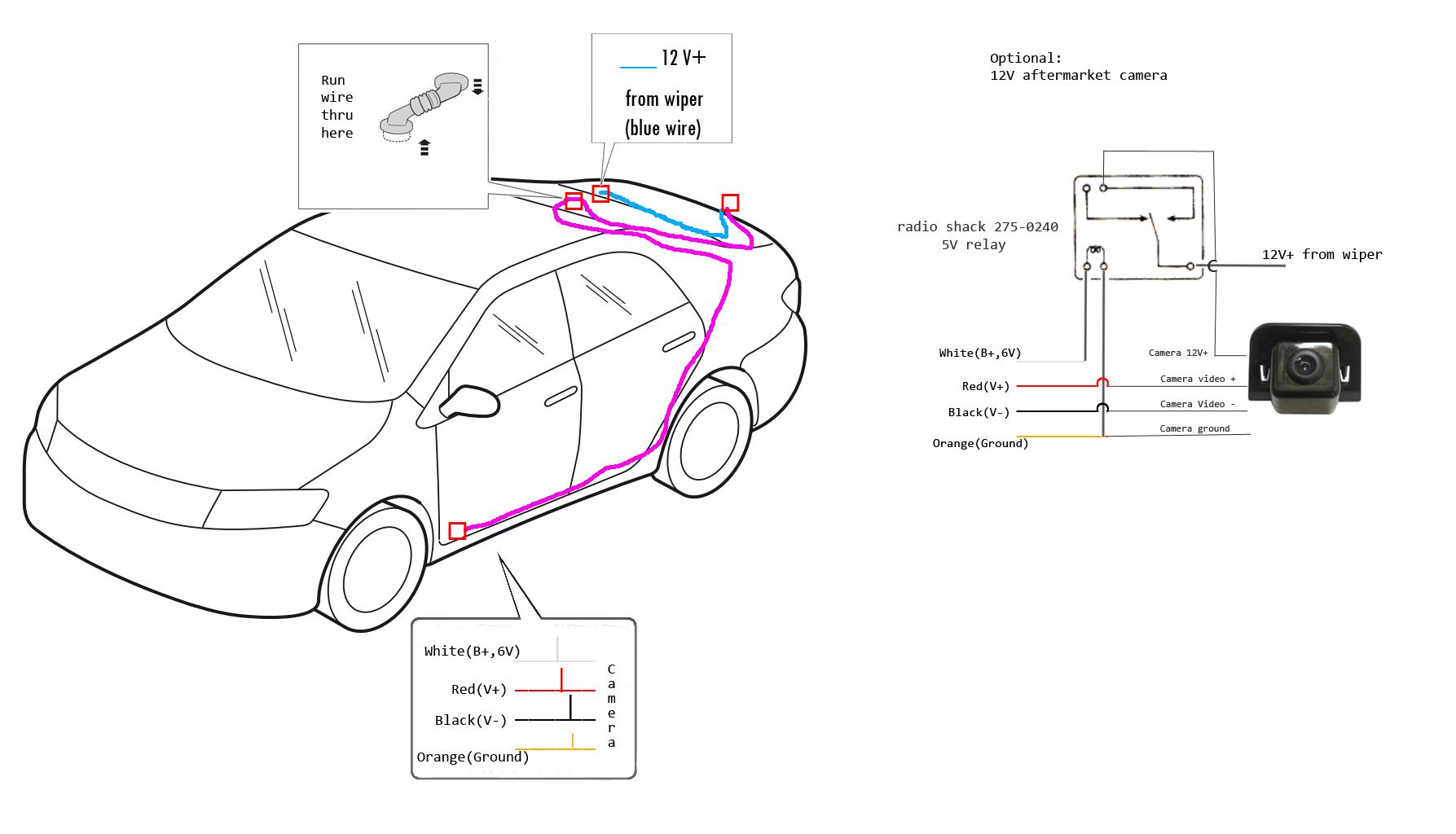 toyota prius wiring backup camera
