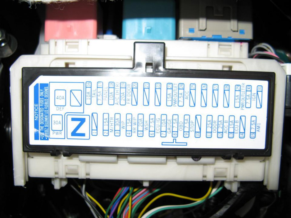 2007 Toyota Yaris Fuse Box Location Two Lone Fuses Behind Left Kick Panel Priuschat