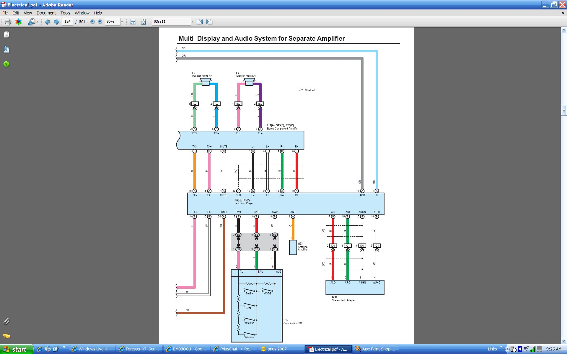 2007 chrysler sebring wiring diagram hyster 50 forklift harnesses 1995