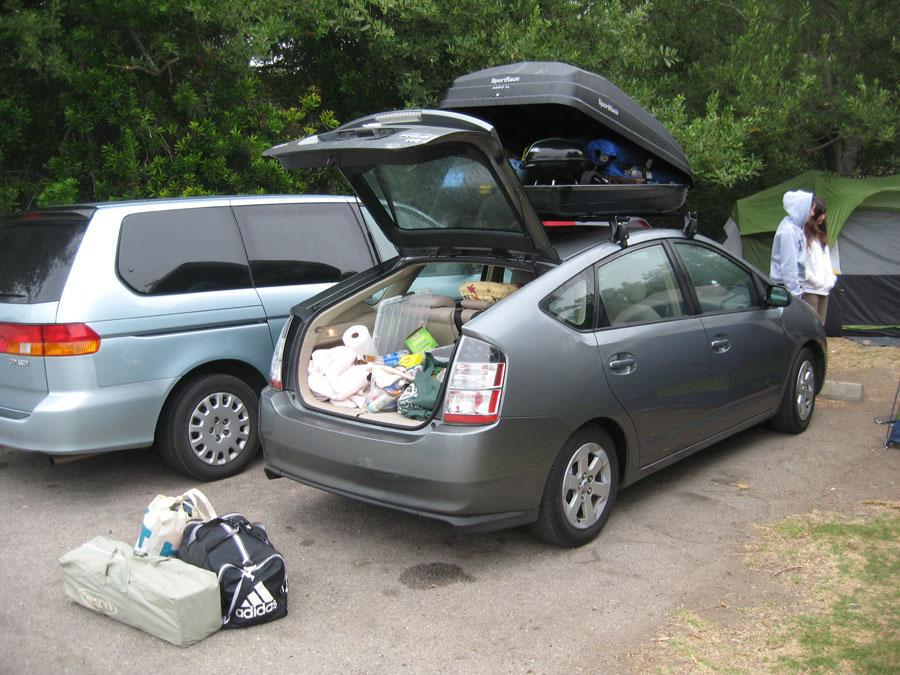 road trip cargo box and yakima rack