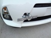 License plate DIY tow hook mount (pics)