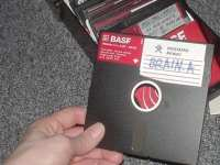 5.25-inch floppy disk infected by 'Brain.A'