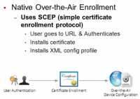 Over-the-air certificate enrollment