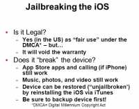 Jailbreaking - legal and safe
