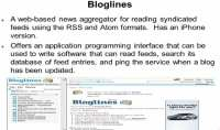 Features of the Bloglines service