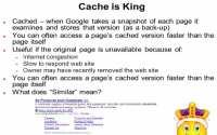 Explaining Google cache and its importance