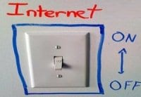 Internet kill switch