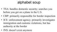 TSA and component agencies in a nutshell