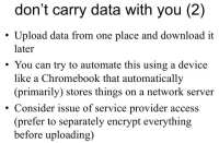 Network data storage as a solution