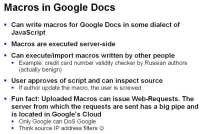 Google Docs from security perspective