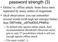 Passphrase with random words can provide high entropy level