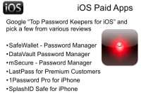 Popular paid password keepers for iOS