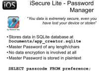 iSecure Lite – not too secure either
