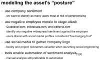 Use company sentiment to stage attack