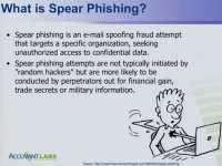 Defining spear phishing