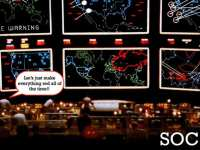A fairly typical scene in the Security Operation Center