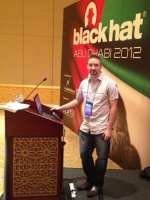 Tom Eston presenting at Black Hat Abu Dhabi