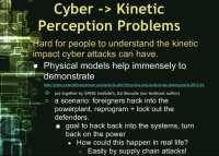 Cyber-kinetic perception problems