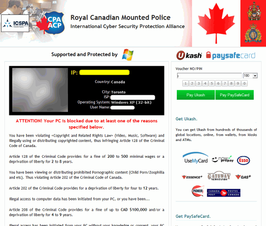 Royal Canadian Mounted Police version