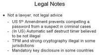 Legal stuff to keep in mind