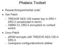 General profile of the Phalanx tool
