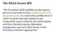 Provisions of the National Defense Authorization Act