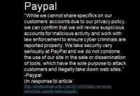 PayPal's response