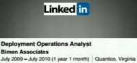 The analyst's LinkedIn entry