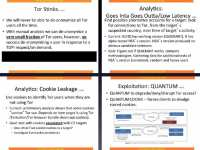'Tor Stinks' presentation excerpts