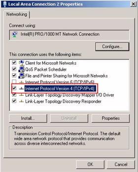 Select IPv4 properties