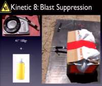 Blast suppression setup
