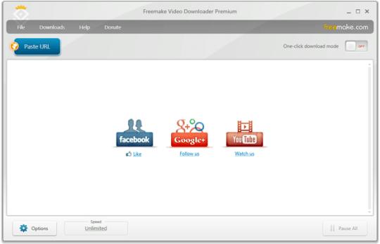 Freemake Video Downloader main pane