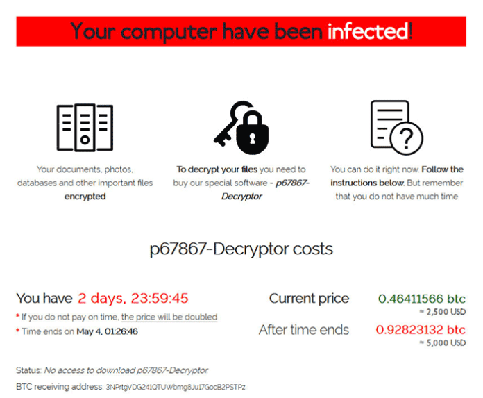 Sodinokibi ransomware: Tor website with ransom steps