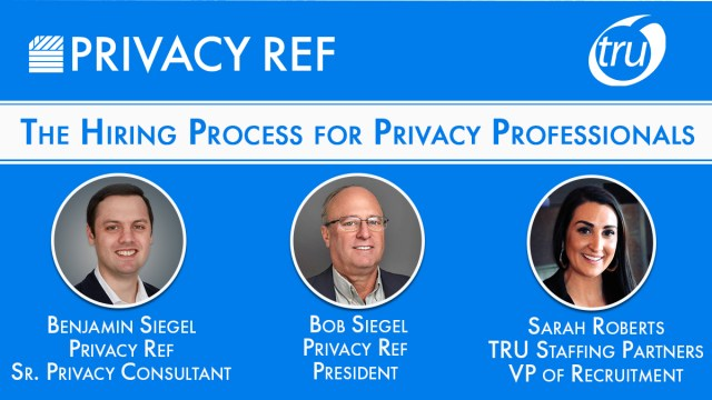 Privacy Ref and TRU staffing roundtable discussion