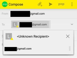 unknown recipient