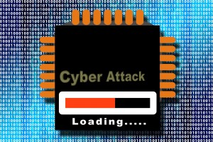 cyber attack graphic loading