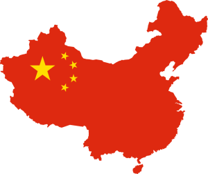 red China country map graphic