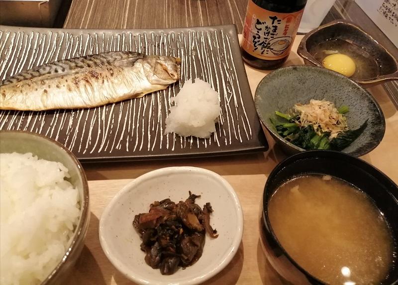 灰干しの干物、サンライズホテル銚子、レストラン、椿、朝食