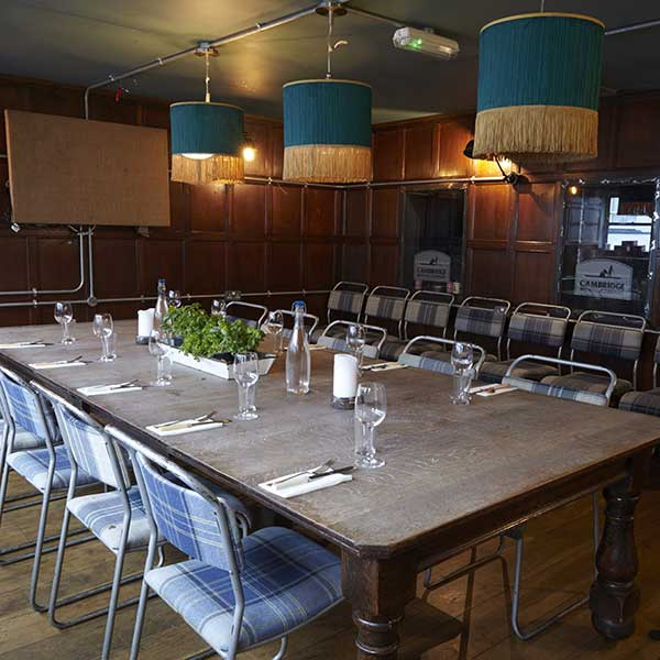 Private Dining in the Tank Room at the Cambridge BrewHouse