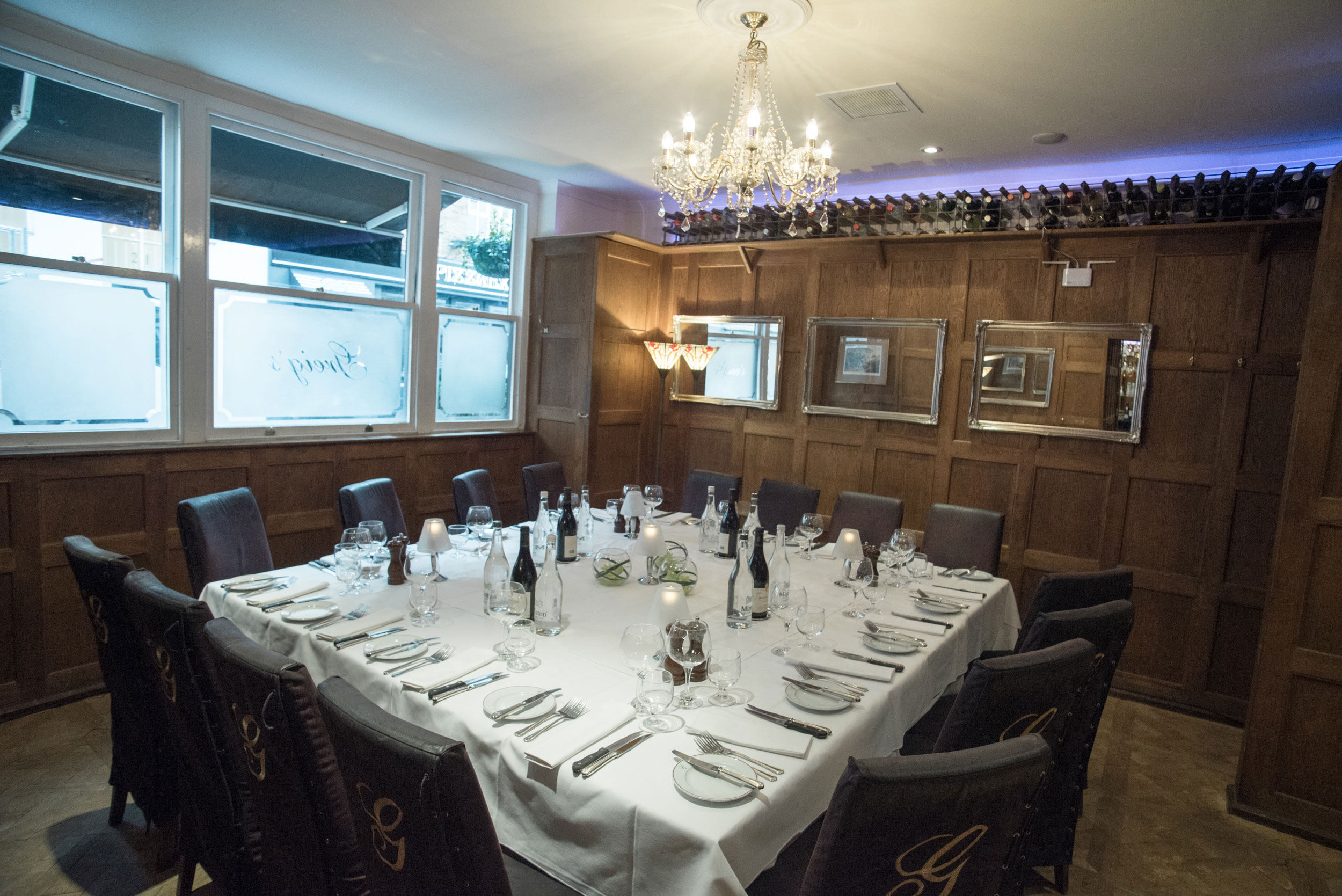 Griegs Oak Room Private Dining Mayfair