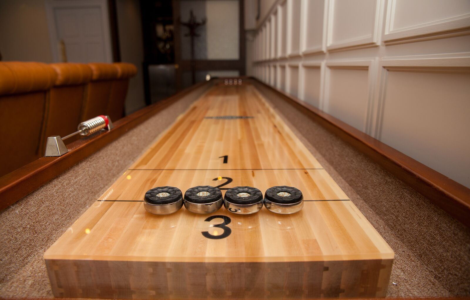 Shuffle Board in the private dining room