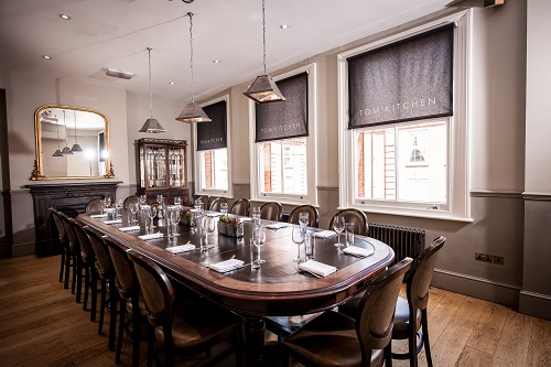 Second Floor Private Dining Room - Tom's Kitchen Chelsea London