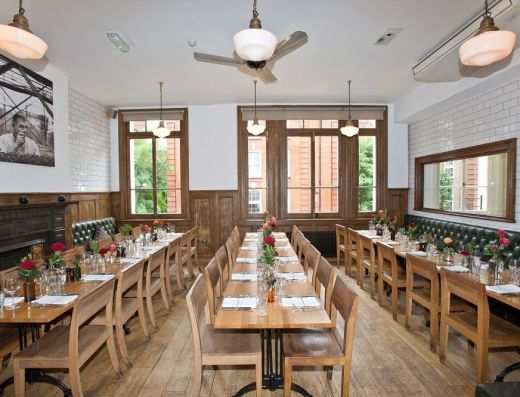 Private Dining on the first floor - Tom's Kitchen Chelsea SW3 3QP