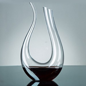 Crystal Horn Wine Decanter