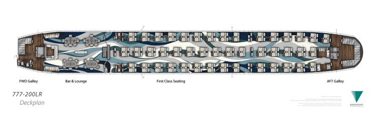 Greenpoint Crystal AirCruises Deckplan 1339 x 459