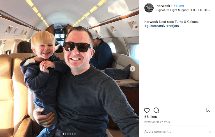 Father and son on a NetJets GIVSP