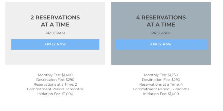 Tuxedo Air membership pricing for indivudals
