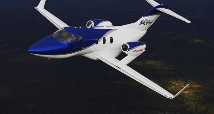 The HondaJet cabin measures 222 cubic feet