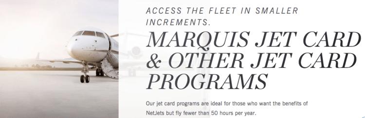 NetJets fractional jet card
