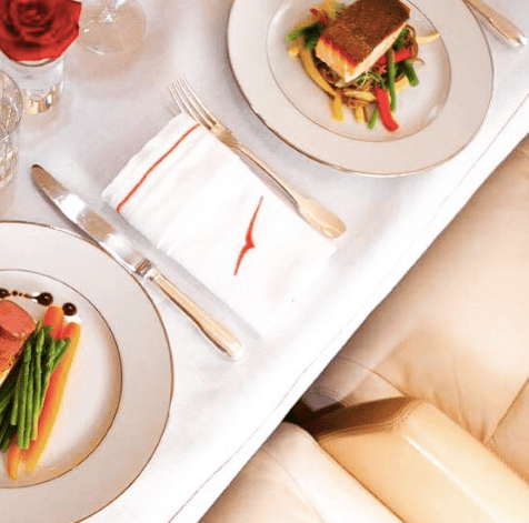 VistaJet Chairman's Menu